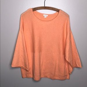 Pure J. Jill Orange Pink Pullover Long Sleeve